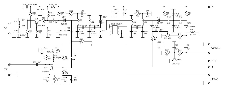 70 mhz transverter er1lw